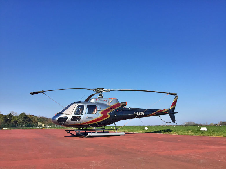 Helicopter charter in Italy.