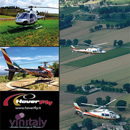 Our Helicopter service company to Vinitaly